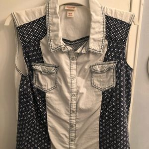Mossimo Supply Co. Blue Patch Vest